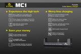 2016년 Vivismoke 최신 판매 보편적인 Xtar Mc1 충전기 앞 Cig 건전지