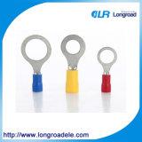 반지에 의하여 형성되는 격리된 연결관 단말기, 주름 단말기