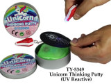 Jouet réactif UV de mastic de licorne drôle