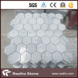 Azulejos de mosaico de mármol naturales del modelo del hexágono para la pared del cuarto de baño y de la cocina