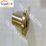 Giro rosqueado oco de bronze do CNC de Rod