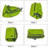 2017熱い販売の軽量の防水FoldableバックパックナイロンファブリックマルチコンパートメントDaypack少し袋