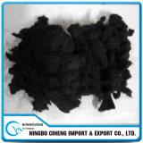 黒い鍋長く作動したカーボンファイバーの絹