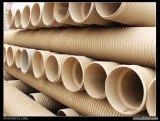 Pipe ondulée enterrée d'évacuation de pipe de double mur de PVC-U