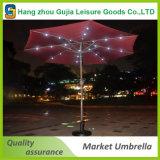 Parasol solar del jardín de la sombrilla de la inclinación de la luz del paraguas LED ' del mercado al aire libre del patio 9