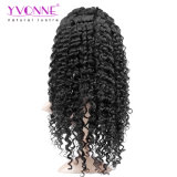 Волос девственницы скручиваемости 100% парик шнурка больших бразильских полный