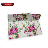 Stand Flip Cover Print Flora Leather Tablet Case para iPad