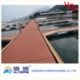 Decking antiderrapante da co-extrusão de WPC de China/composto plástico de madeira