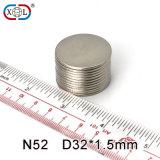 Elektrischer starker dünner Neodym-Magnet der Platten-N35