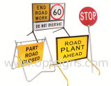 L'oscillation extérieure portative de sûreté de travail de route de chantier signe le bâti, stand de signe d'oscillation, signes de stand d'oscillation