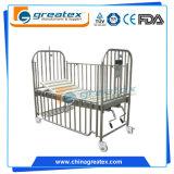 스테인리스 가로장 (GT-BM503)를 가진 2개의 불안정한 스테인리스 아이들 침대 아기 침대