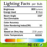 Lumière d'ampoule en verre de filament du boîtier DEL de la haute énergie 2W-8W