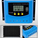 visualización solar PWM del regulador 12V 24V LCD del regulador de la carga del USB 50A