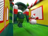 Snowman Theme Bouncer de salto inflável com slide (CHB1129-1)