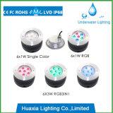 316 luces subacuáticas inoxidables de la piscina del acero 18W RGB LED