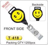 Carrete lateral doble T-413/T-414/T-415/T-416/T-417/T-418/T-419/T-420 de la divisa de la sonrisa