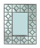 Decorazione di legno della parete di accento del blocco per grafici dello specchio di rettangolo