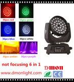 RGBW 빛을 집중시키는 36*10W 4in1 LED 이동하는 맨 위 빛