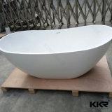 Bath de trempage de salle de bains en pierre extérieure solide de résine