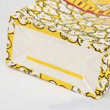 Sacos de papel recicl pequenos feitos sob encomenda do ofício para a pipoca