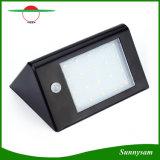 A iluminação ao ar livre IP65 Waterproof a luz da segurança da lâmpada de parede do jardim do sensor de movimento da potência solar PIR do diodo emissor de luz 350lm 20