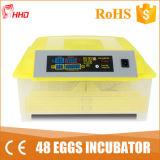 Incubadora 12V Yz8-48 do ovo automático do preço de fábrica 48 mini