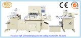 Máquina de carimbo da etiqueta automática & cortando quente