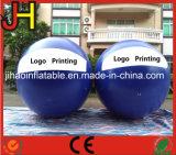 De aangepaste Opblaasbare Ballon van het Helium van de Reclame met de Druk van het Embleem
