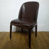 ヨーロッパ式の金属の鋼鉄革食事の椅子