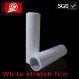 Película branca do envoltório da película de estiramento de LLDPE com a película elástica excelente do envoltório