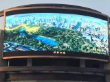 Anúncio ao ar livre finamente processado placa do sinal da tela do diodo emissor de luz de 65536 graus