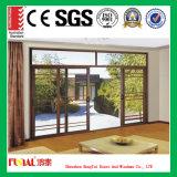 Porte en aluminium de glissière conçue par propriétaire avec les verres de sûreté élevés
