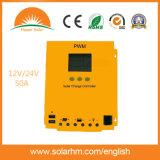 regulador solar de la carga de la visualización de 12/24V 50A LCD con el USB