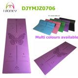 Le couvre-tapis professionnel de yoga d'unité centrale d'épreuve de dérapage avec le laser gravent sec-et-humide antidérapage de configuration