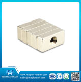 Block Permanent NdFeB Neodymium Magnet with Hole