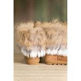Stivali di pelle di pecora delle donne con pelliccia di procione Trim e pelliccia di coniglio