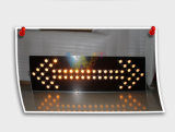 1500 * 600mm Aluminium Truck Monté Amber Arrow Board Light