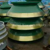 Le broyeur de cône de Mn13cr2 M18cr2 partie le manteau de la fonderie
