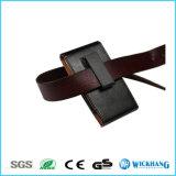 Caisse en cuir lustrée verticale de téléphone d'étui de clip de ceinture de maintien