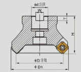 Ferramentas de estaca do CNC, Tse 45° Cortador de trituração da face