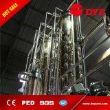 destilador de cobre rojo del sistema de la destilación del alcohol del ron de la vodka de la ginebra del brandy 1000L