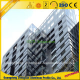 Алюминиевая алюминиевая ненесущая стена для стекла здания декоративного