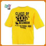 T-shirt estampé promotionnel fait sur commande bon marché de coton (HYT-s 015)