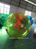 alta bola colorida inflable del agua del PVC del 1.8m para el parque del agua