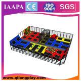 Спортивная площадка детсада малая крытая мягкая (QL-17-3)