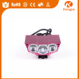 매우 Alumimium 밝은 재충전용 T6 LED 자전거 부속 Solarstorm 실리콘 자전거 빛
