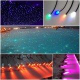 Éclairage de fibre optique latéral de piscine