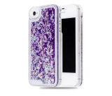더하기 iPhone 7/7를 위한 내진성 OEM 환영받은 TPU 분홍색 액체 반짝임 전화 상자 (XSDD-003)