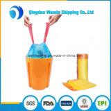 LDPEの黒の隆起の義務の大箱のためのプラスチックドローストリングのごみ袋