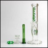 """Pipe droite de Weed de pipe de fumage de plate-forme pétrolière de 10 """" de tube droit neuf en verre de narguilés de Hfy de tube Illadelph 9mm Waterpipe en verre conduites d'eau"""